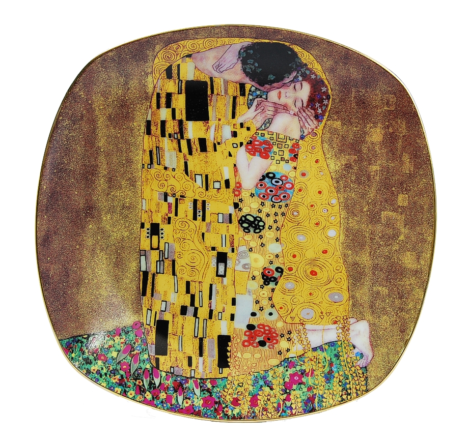 xl teller servierteller gustav klimt der kuss the kiss le baisier ebay. Black Bedroom Furniture Sets. Home Design Ideas