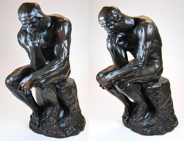 xxl skulptur a rodin der denker 36 cm 7 5 kg ebay. Black Bedroom Furniture Sets. Home Design Ideas